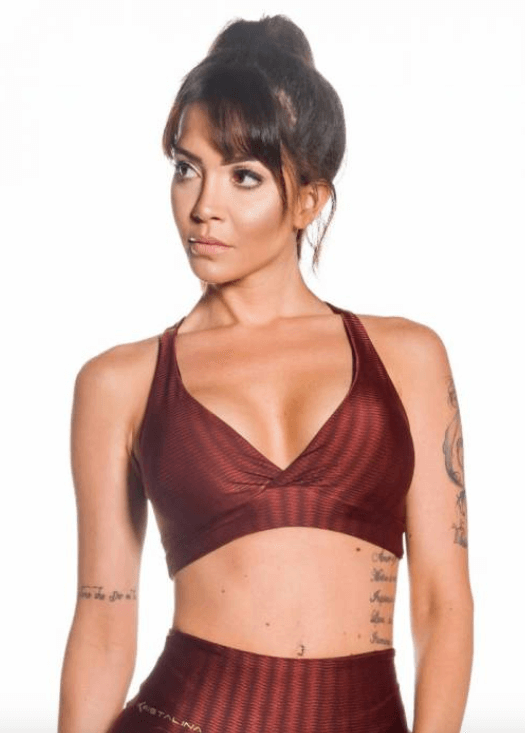Sports Bra Open Brown