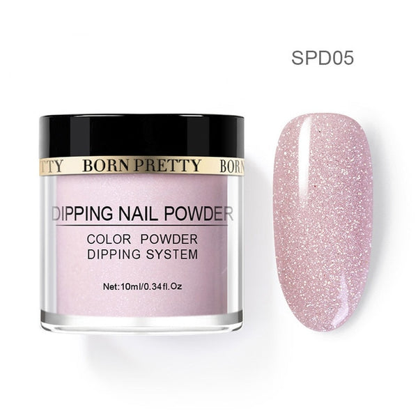 BORN PRETTY Holographic Dip Nail Powders Gradient Dipping Glitter Decoration Lasting than UV Gel Natural Dry Without Lamp Cure