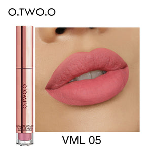 O.TWO.O Matte Lipstick Liquid Waterproof Long Lasting Velvet Lip Gloss Makeup Smooth Pigment Lip Tint Red Lips Cosmetics