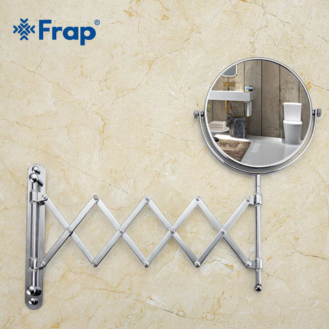 Frap Wall Mounted Makeup Countertop 180 Rotating Free Magnifier Mirror