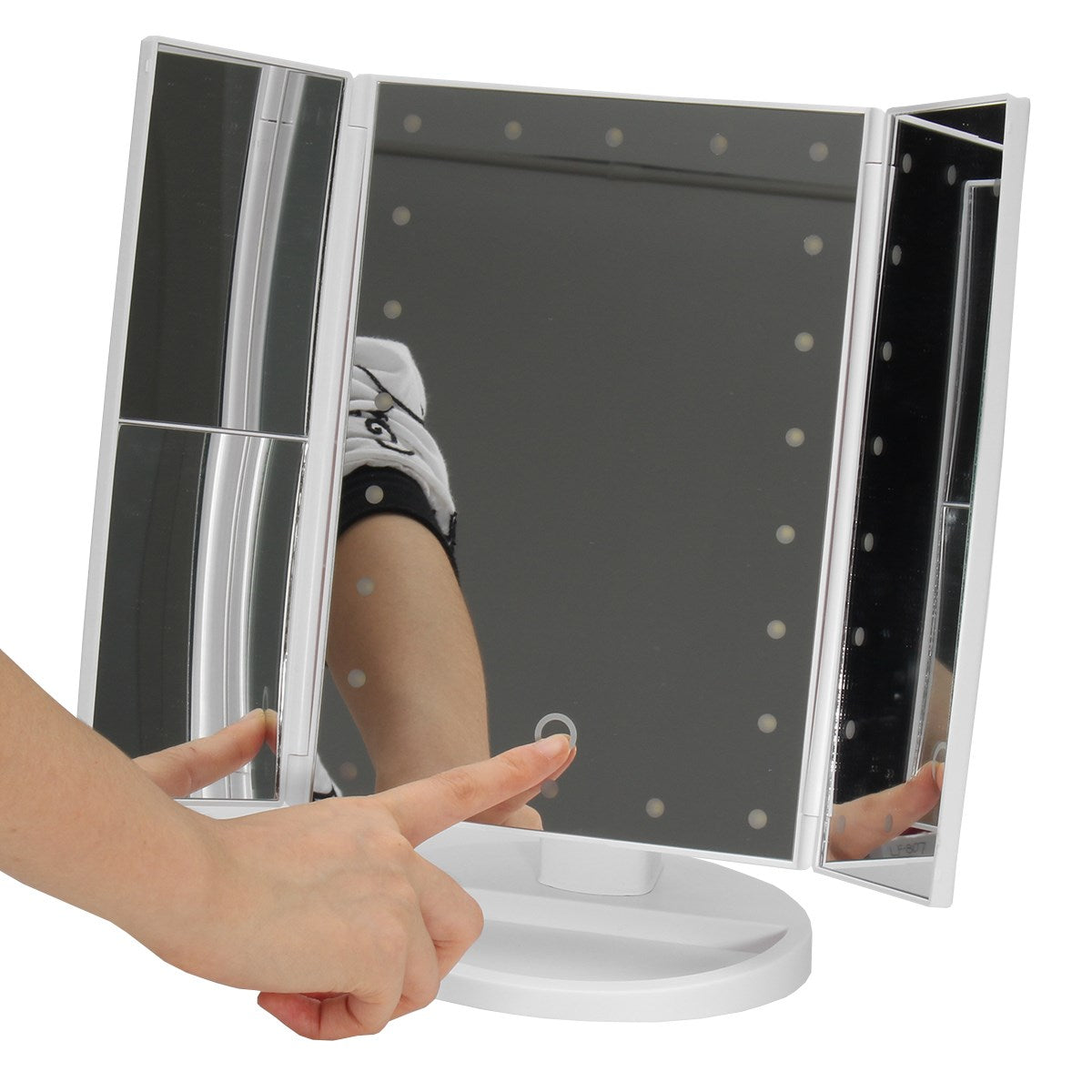 3 Folding Touch Screen Led Light Makeup Mirror