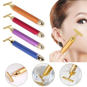 Classical 24K Golden Beauty Electric Firming Slimming Facial Pulse Roller Massager