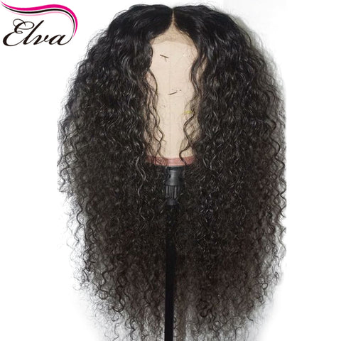 Curly 360 Lace Frontal Wig 180% Density Brazilian Human Hair Wig