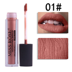 MISS ROSE Liquid Lipstick Moisturizer Velvet Lipstick Cosmetic Beauty Makeup