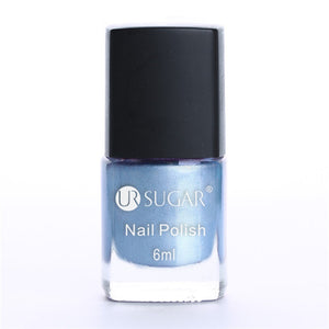 UR SUGAR Colorful Pink Silver Gold Mirror Metallic Nail Polish Metallic Nail Lacquer Mirror Effect Gorgeous Metal Nail Varnish