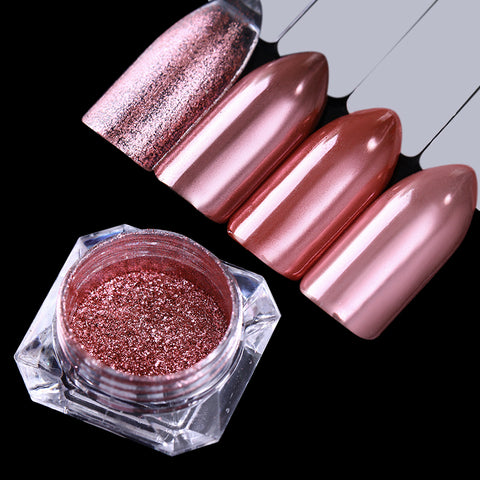 BORN PRETTY 1Box Mirror Rose Gold Black Blue Purple Nail Glitter Powder