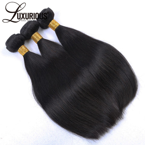 Luxurious Peruvian Virgin Hair Straight Natural Color 100% Human Hair