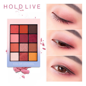 HOLD LIVE Color Focus Charm Show Red Eye Shadow Palette Nude Shadows Cosmetics Korean Makeup 12 Colors Pigment Glitter Eyeshadow