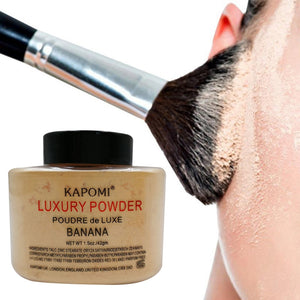 Women Banana Loose Powder 1.5 Oz Whitening Oil Control Luxury Face Powder Foundation