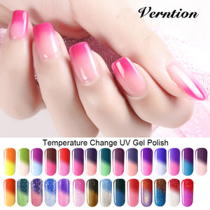 Verntion 8ml Soak Off Temperature Change Color Gel