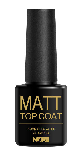 Zation Matte Nail Art Polish Lacquer Varnish Frosted Nail Polish Matt Gel Polish