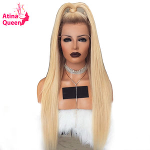 150 Density T4/613 Dark Roots Blonde Human Hair Wig Pre Plucked Remy