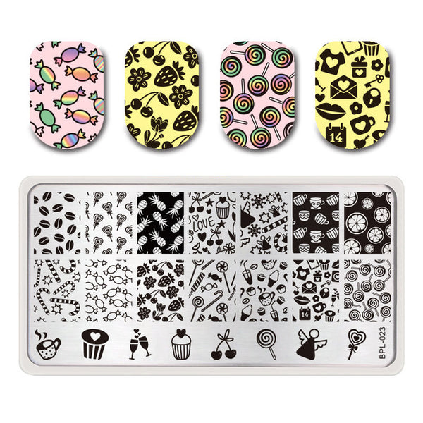 BORN PRETTY Summer Flamingo Pattern Nail Stamping Template