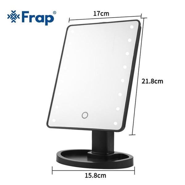 Frap Bath Mirror LED Touch Screen Professional Vanity