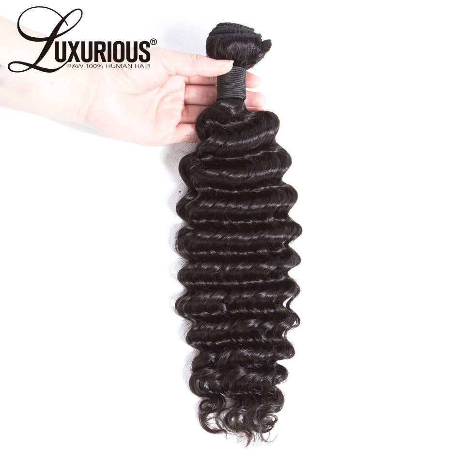 Brazilian Deep Wave Hair 100% Human Hair Bundles Remy Hair