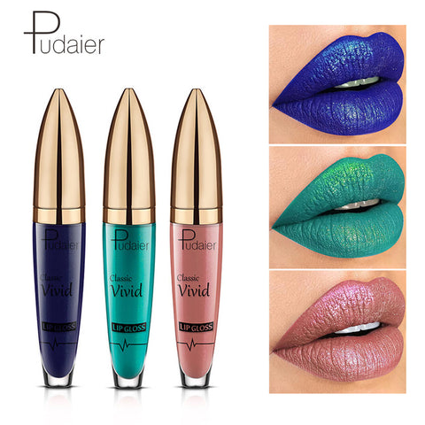 MISS ROSE pudaier New 2018 Glitter Lip Gloss Tint Batom Makeup Matte Waterproof Liquid Lipstick Cosmetics 18 Color Kyliejenners