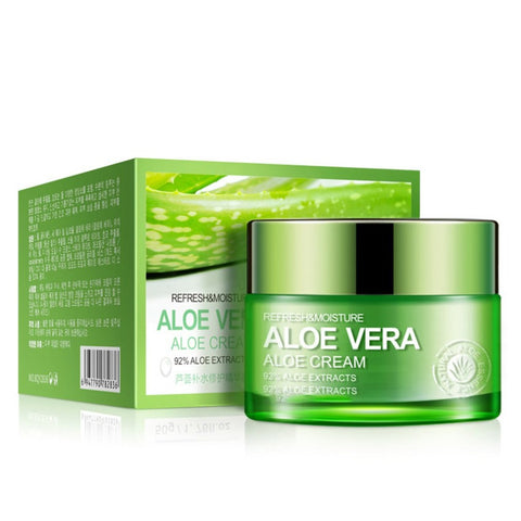 Natural Aloe vera gel acne treatment moisturizing skin whitening scar removal Aloe essence facial cream 50g