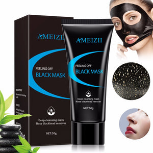 AMEIZII Bamboo Charcoal Blackhead Remover Face Nose Mask Deep Cleansing Mud Black Mask Acne Treatments Blackhead Mask Skin Care