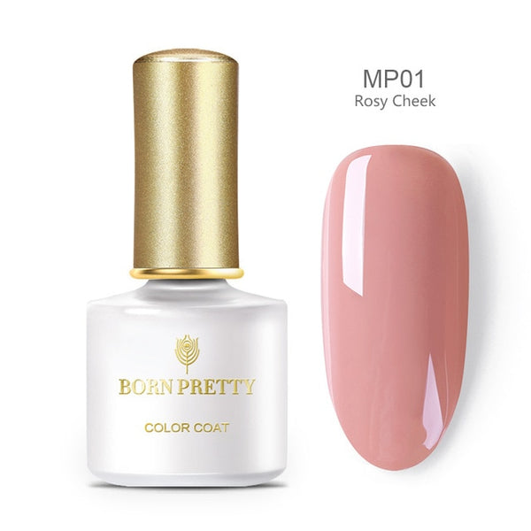 BORN PRETTY Living Coral Color Gel Polish 6ml Shimmer Glitter Rose Pink Soak Off Nail Art Gel Lacquer Primer Gel Varnish