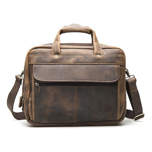 Dixon Leather Loaded Antique Briefcase