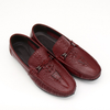 Dixon Leather Crocodile Tasseled Loafers
