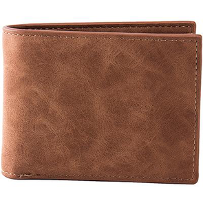 Dixon Leather Suede Wallet With Coin Zip