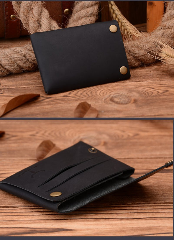 Dixon Leather Button Card Holder