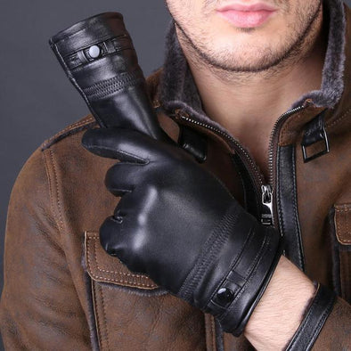 Dixon Leather Long-Cut Winter Gloves