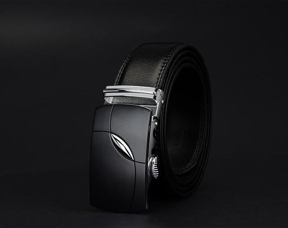Dixon Leather Black Rosemary Buckle Belt