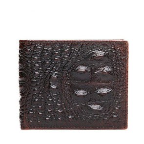 Dixon Leather Crocodile Embossed Bi-fold Wallet