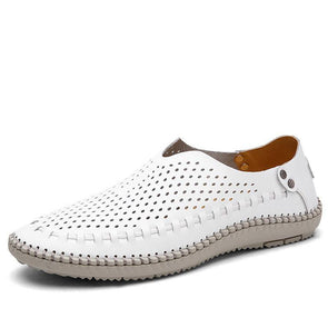 Dixon Leather Breathable Flat Shoes