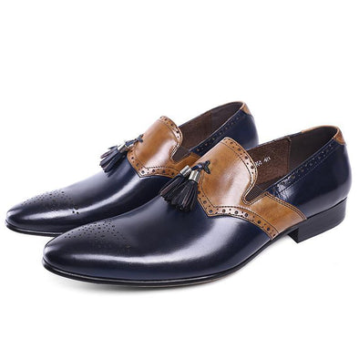 Dixon Leather Dio Tasseled Slip-on Dress Shoes