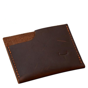 Dixon Leather Horizontal Rustic Card Holder