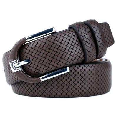 Dixon Leather Modern Snake Design Belt
