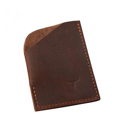 Dixon Leather Vertical Rustic Card Holder
