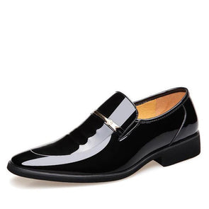 Dixon Leather Notched Vamp Dress Shoes