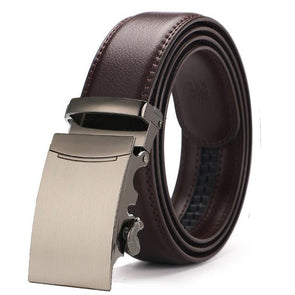 Dixon Leather Matte Copper Buckle Belt