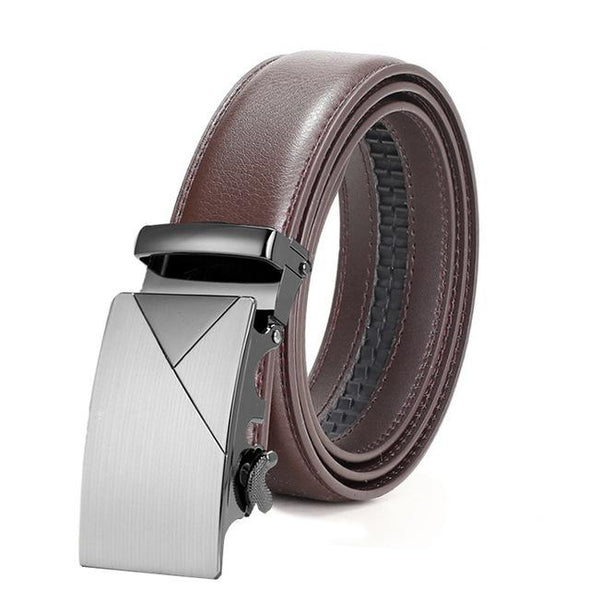 Dixon Leather Geo Matte Silver Belt