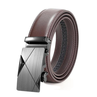 Dixon Leather Graphite Checkered Belt