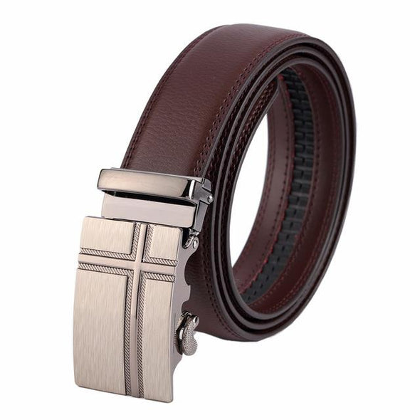 Dixon Leather Cross Matte Buckle Belt