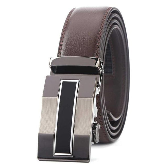 Dixon Leather Centered Rectangular Focus Belt