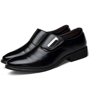 Dixon Leather Black Minimalist Monk Strap Dress Shoes