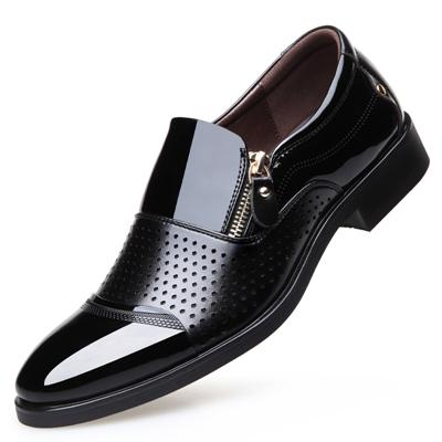 Dixon Leather Zip Strapped Slip-on Dress Shoes