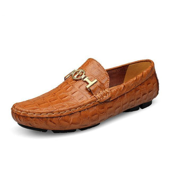 Dixon Leather Styled Driver Loafers