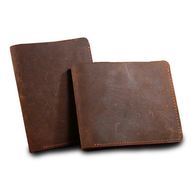 Dixon Leather Rustic Design Bi-Fold Wallet