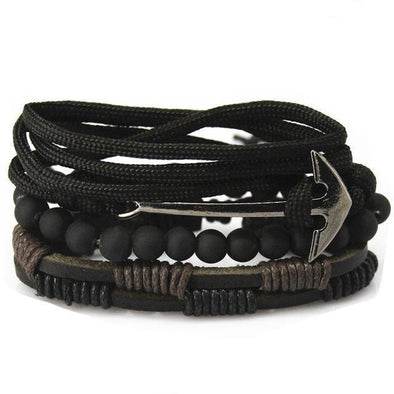Dixon Leather Chopper Bracelet Set