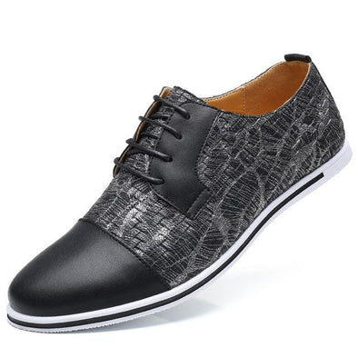 Dixon Leather Plaid Based Oxford Casual Shoes