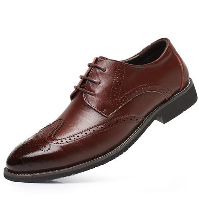 Dixon Leather Polished Wingtip Oxford Dress Shoes