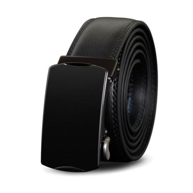 Dixon Leather Glossed Black Buckle Belt