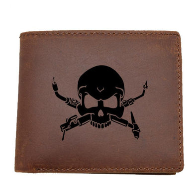 Dixon Leather Welders Skull Bi-Fold Wallet